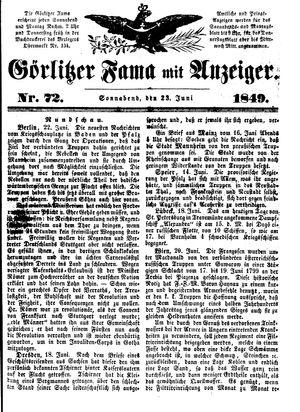 Görlitzer Fama vom 23.06.1849