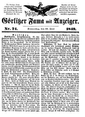 Görlitzer Fama vom 28.06.1849