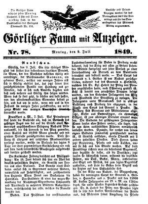 Görlitzer Fama vom 09.07.1849