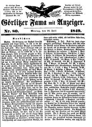 Görlitzer Fama on Jul 16, 1849