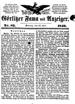 Görlitzer Fama vom 23.07.1849