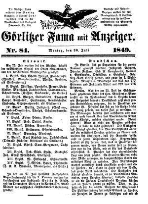 Görlitzer Fama vom 30.07.1849