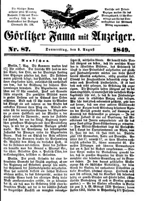 Görlitzer Fama vom 09.08.1849