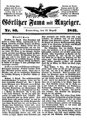 Görlitzer Fama vom 16.08.1849