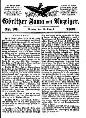 Görlitzer Fama vom 20.08.1849