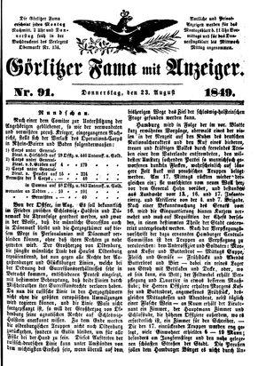 Görlitzer Fama vom 23.08.1849