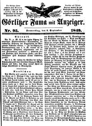Görlitzer Fama vom 06.09.1849