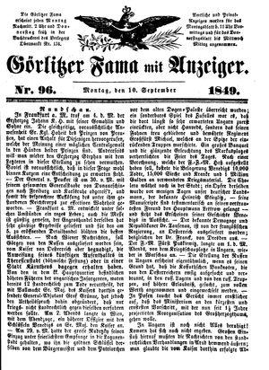 Görlitzer Fama vom 10.09.1849