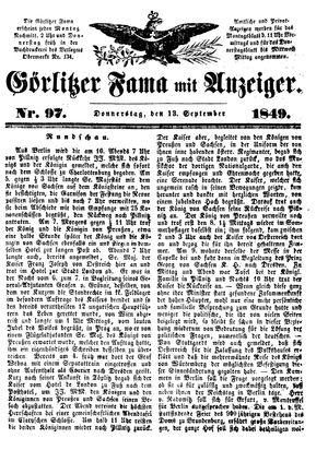 Görlitzer Fama vom 13.09.1849
