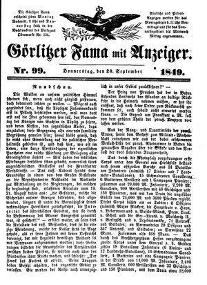 Görlitzer Fama vom 20.09.1849