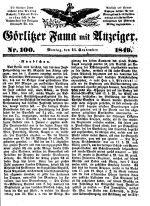 Görlitzer Fama vom 24.09.1849