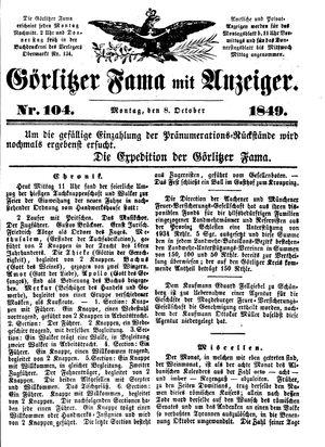 Görlitzer Fama vom 08.10.1849