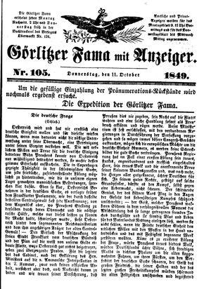 Görlitzer Fama vom 11.10.1849