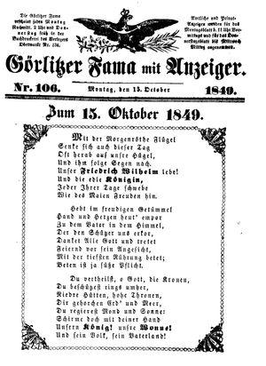 Görlitzer Fama vom 15.10.1849
