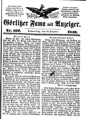 Görlitzer Fama on Oct 18, 1849