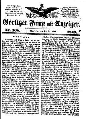 Görlitzer Fama vom 22.10.1849
