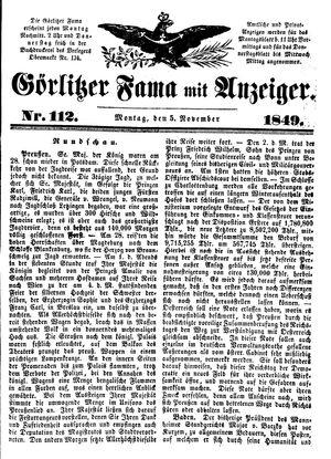 Görlitzer Fama vom 05.11.1849