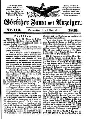 Görlitzer Fama vom 08.11.1849