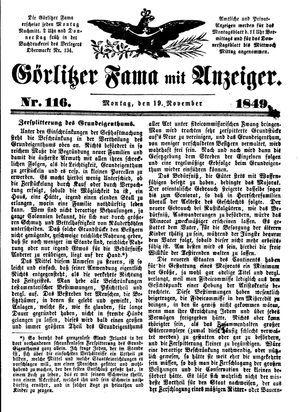 Görlitzer Fama vom 19.11.1849