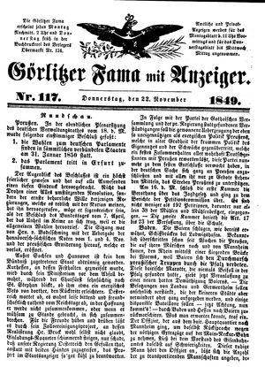 Görlitzer Fama vom 22.11.1849