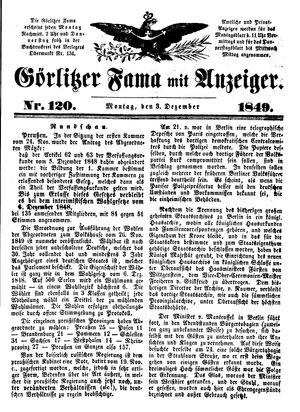 Görlitzer Fama vom 03.12.1849