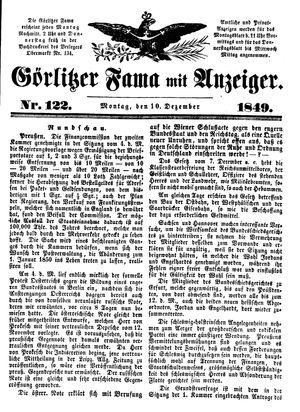 Görlitzer Fama vom 10.12.1849