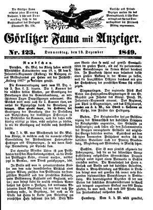 Görlitzer Fama vom 13.12.1849