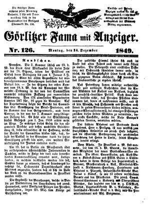 Görlitzer Fama vom 24.12.1849