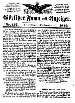 Görlitzer Fama vom 27.12.1849