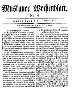 Muskauer Wochenblatt vom 24.05.1821