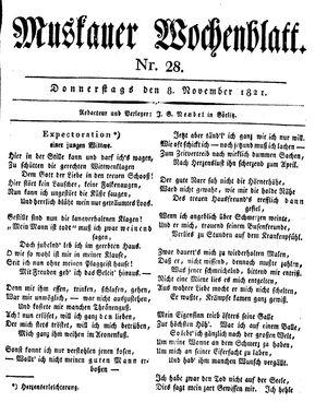 Muskauer Wochenblatt vom 08.11.1821