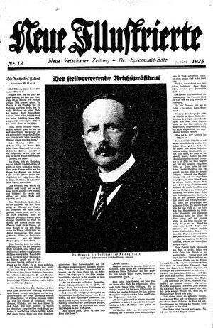 Neue Vetschauer Zeitung on Mar 21, 1925