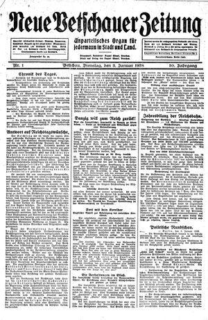 Neue Vetschauer Zeitung vom 03.01.1928