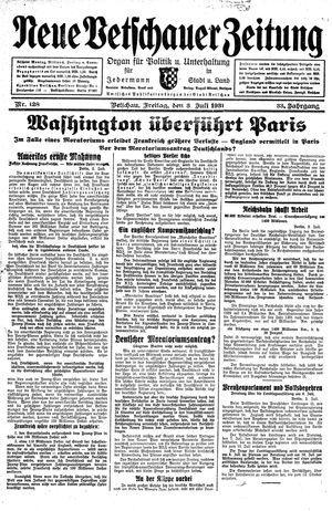 Neue Vetschauer Zeitung vom 03.07.1931