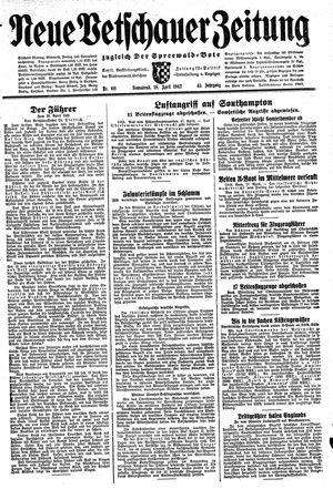 Neue Vetschauer Zeitung vom 18.04.1942
