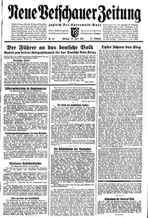 Neue Vetschauer Zeitung on Apr 22, 1942