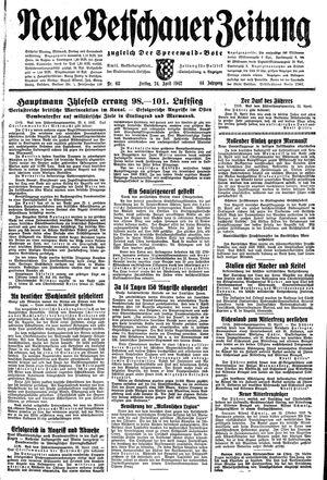 Neue Vetschauer Zeitung vom 24.04.1942