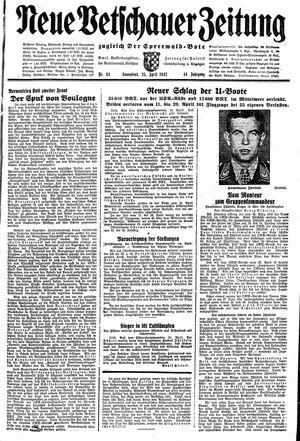 Neue Vetschauer Zeitung vom 25.04.1942