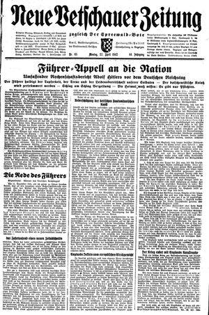 Neue Vetschauer Zeitung vom 27.04.1942