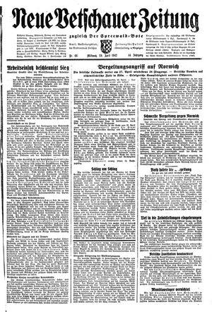 Neue Vetschauer Zeitung vom 29.04.1942