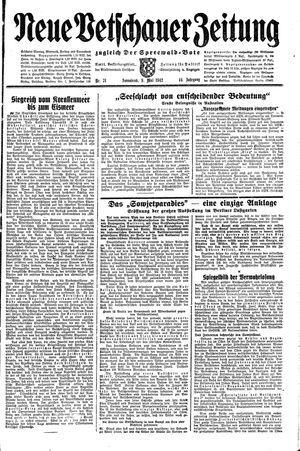 Neue Vetschauer Zeitung vom 09.05.1942