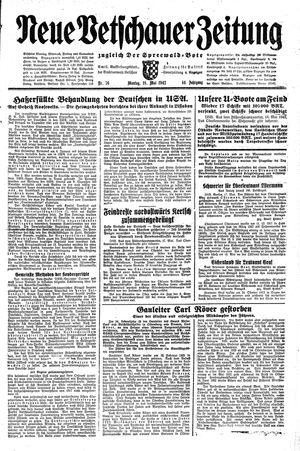 Neue Vetschauer Zeitung vom 18.05.1942