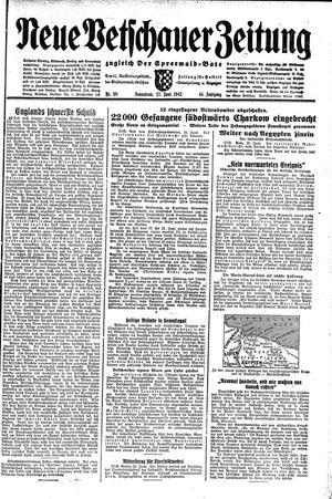 Neue Vetschauer Zeitung vom 27.06.1942