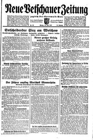 Neue Vetschauer Zeitung on Jun 29, 1942