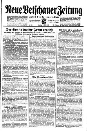 Neue Vetschauer Zeitung vom 06.07.1942