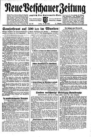 Neue Vetschauer Zeitung vom 10.07.1942