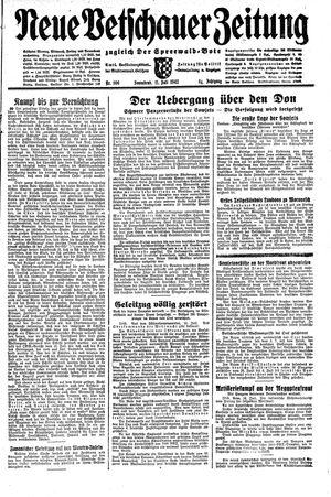Neue Vetschauer Zeitung vom 11.07.1942