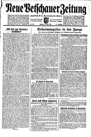 Neue Vetschauer Zeitung vom 15.07.1942