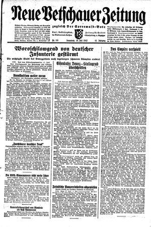 Neue Vetschauer Zeitung vom 18.07.1942