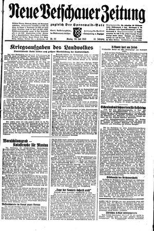 Neue Vetschauer Zeitung on Jul 20, 1942